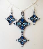 Harlequin Beadwork Necklace & Earrings Jewellery Pattern - Beading Pattern